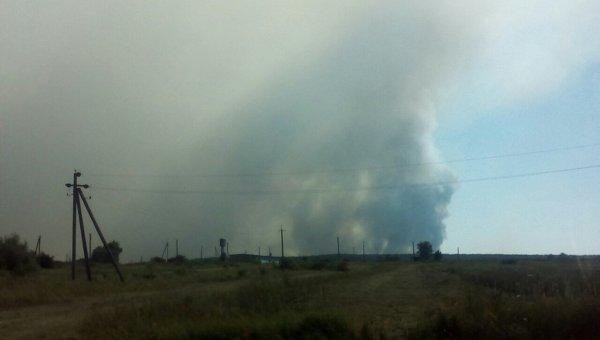 Пожар на военном полигоне в Черниговской области. Архивное фото