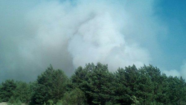 Пожар на военном полигоне в Черниговской области