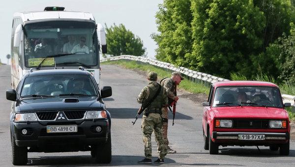 Ситуация возле Славянска в Донбассе. Архивное фото