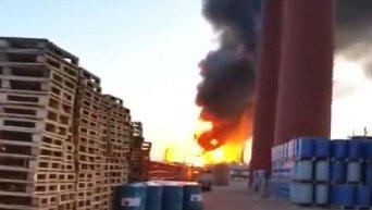 Пожар в Уфе на нефтеперерабатывающем заводе