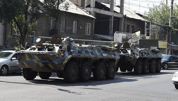 Ситуация в Ереване после захвата здания полиции