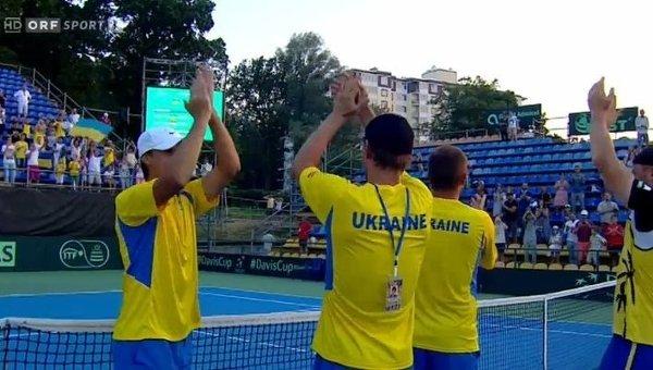 Украинские теннисисты пробились в плей-офф Мировой группы