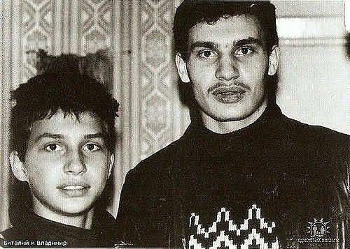Владимир и Виталий Кличко в юности
