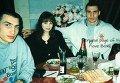 Братья Кличко с девушками, слева от Виталия его будущая супруга Наталья Егорова