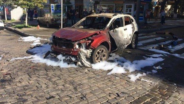 Машина, в результате взрыва которой погиб Павел Шеремет