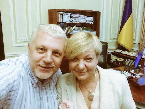 Павел Шеремет и Валерия Гонтарева