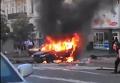 Появилось видео пылающей машины, в которой взорвался Шеремет