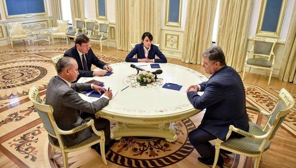 Василий Грицак, Юрий Луценко, Хатия Деканоидзе и Петр Порошенко