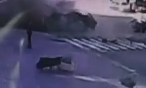 Момент взрыва авто Павла Шеремета
