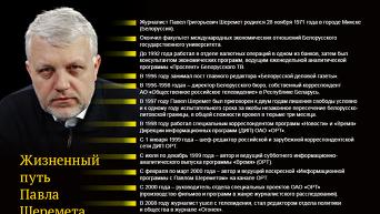 Жизненный путь Павла Шеремета. Инфографика