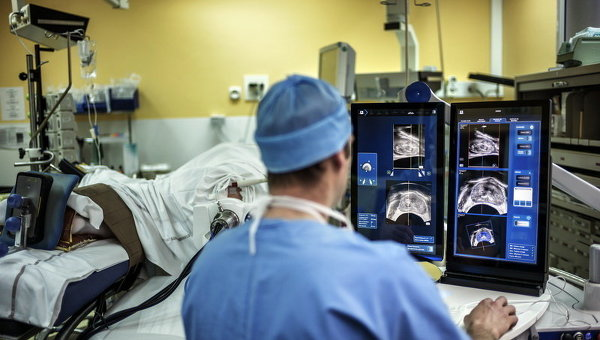 Сканирование части тела больного