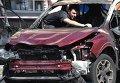 На месте взрыва автомобиля, в котором находился Павел Шеремет. Архивное фото