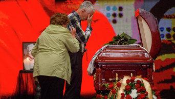 Церемония прощания с Павлом Шереметом в Киеве