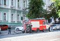 Ситуация в Киеве после получения сообщения о минировании. Архивное фото