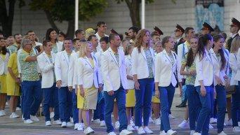 Церемония проводов Олимпийской сборной Украины на Олимпийские игры в Рио-де-Жанейро