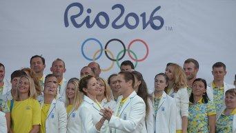Церемония проводов Олимпийской сборной Украины на ОИ-2016 в Рио-де-Жанейро