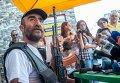 Журналисты побывали на территории захваченного полка ППС в Ереване