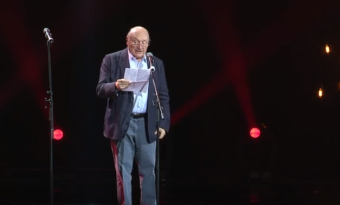Выступление Михаила Жванецкого на закрытии Одесского международного кинофестиваля в 2016 году
