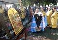 Икону Благословение Святой Горы Афон, которая написана для Украины, торжественно встретили в Киево-Печерской лавре
