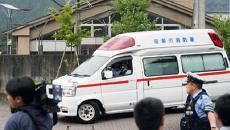 На месте резни возле железнодорожной станции Сагамихара, префектура Канагава, Япония