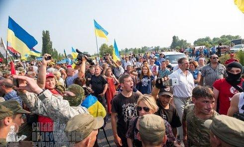 Как Крестный ход проходил возле Борисполя
