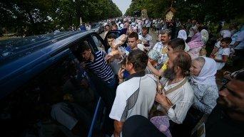 Крестный ход у села Стоянка под Киевом