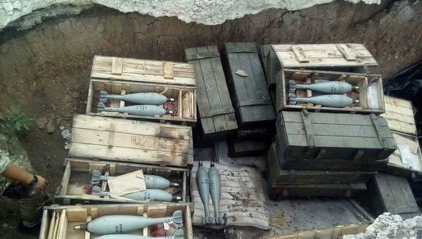 Служба безопасности Украины заявила об обнаружении в Донбассе тайника с боеприпасами