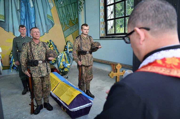 Перезахоронение воинов дивизии Галичина