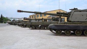 Военная техника на территории предприятия Укроборонпром
