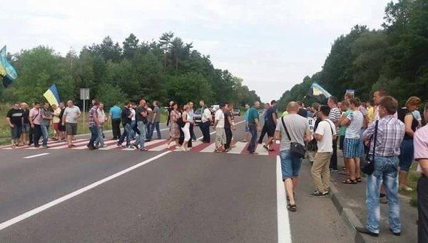 Шахтеры перекрыли трассу Львов-Рава-Русская