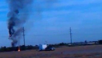 Падение воздушного шара в Техасе