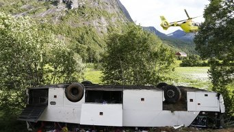 На месте ДТП с автобусом с украинскими туристами в Норвегии