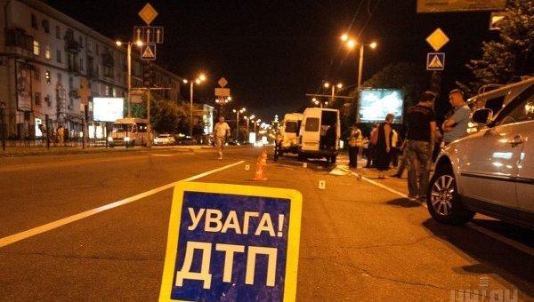 ВХарькове автомобиль патрульных сбил пешехода