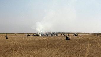 Сбитый в Сирии 1 августа 2016 года российский вертолет Ми-8