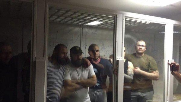 Подсудимые торнадовцы в Оболонском суде