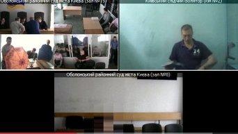 Появилось видео с закрытого заседание по делу торнадовцев. Видео