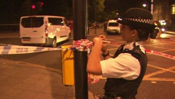Полиция на месте нападения в центре Лондона