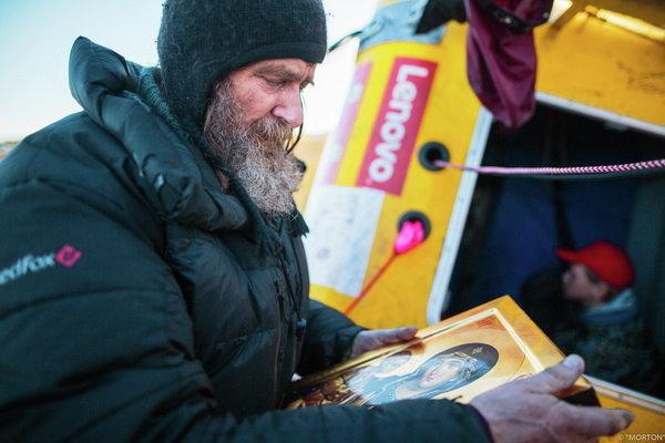 Путешественник Федор Конюхов во время кругосветного путешествия на воздушном шаре