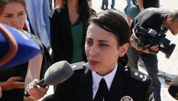 Начальник Национальной полиции Украины Хатия Деканоидзе