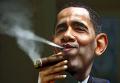 Барак Обама. Карикатура на потепление в отношениях США и Кубы