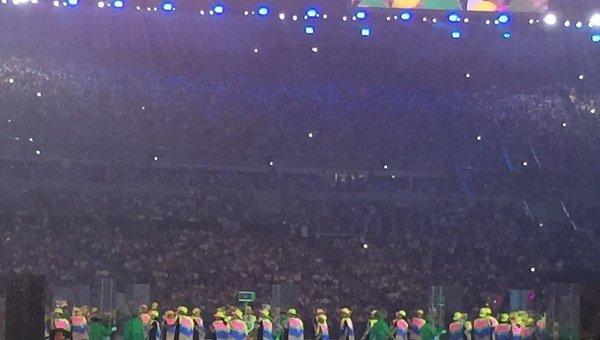 Парад спортсменов. Сборная Греции