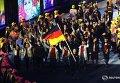 Парад спортсменов на церемонии открытия Олимпиады в Рио-де-Жанейро