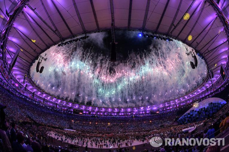 Церемония открытия XXXI летних Олимпийских игр в Рио-де-Жанейро