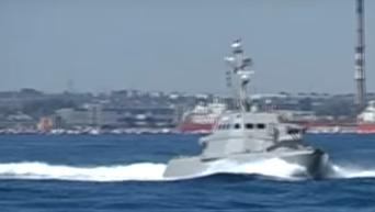 Испытания бронированных артиллерийских катеров в Одессе