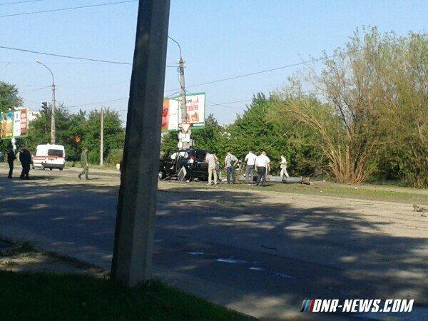 На месте взрыва автомобиля главы ЛНР Плотницкого