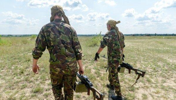 Подготовка призванных в украинскую армию военнослужащих