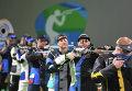 Никколо Камприани (Италия) на соревнованиях по пулевой стрельбе на 10 метров из пневматической винтовки