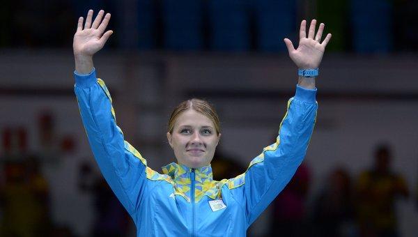 Ольга Харлан, завоевавшая бронзовую медаль в индивидуальном первенстве по фехтованию на саблях