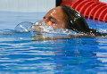 Юлия Ефимова (Россия) после финального заплыва на 100 м брассом