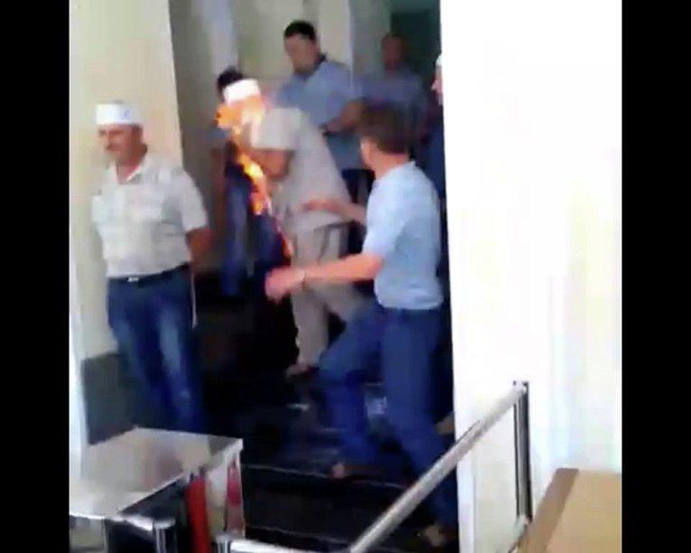 Шахтер поджег себя у Минэнерго